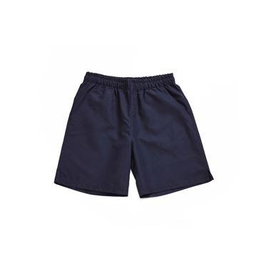 Immagine di Shorts blu in microfibra