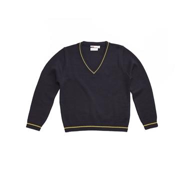Immagine di Maglione misto lana con righine a contrasto